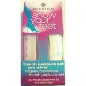 ESSENCE KIT SHOW YOUR FEET French PEDICURE PRO WHITE