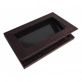 Z Palette Large - CROCODILE COLLECTION - Burgundy