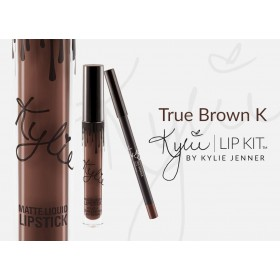KYLIE COSMETICS TRUE BROWN K LIP KIT