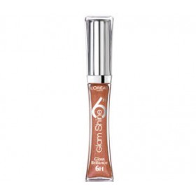 L'Oreal Glam Shine Lip Gloss 6hrs Brilliance 104 AMBER FIDELITY