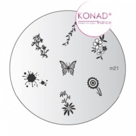KONAD Plaque m21 - 7 motifs (codem21)