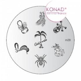 KONAD Plaque m28 - 7 motifs (codem28)