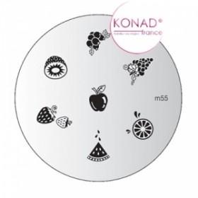 KONAD Plaque m55 - 7 motifs (codem55)