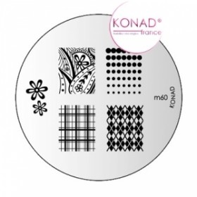 KONAD Plaque m60 - 7 motifs (codem60)