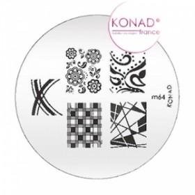 KONAD Plaque m64 - 7 motifs (codem64)