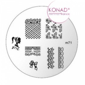 KONAD Plaque m71 - 7 motifs (codem71)