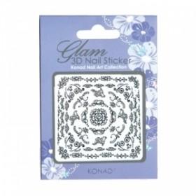 KONAD Glam 3D Nail Sticker - K3D-B03
