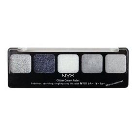 NYX GLITTER CREAM PALETTE 5 COULEURS ICE QUEEN