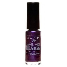 ELFA VERNIS NAIL ART DESIGN DARK PURPLE FROST