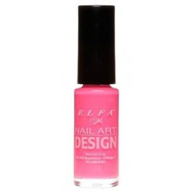 ELFA VERNIS NAIL ART DESIGN HOT PINK