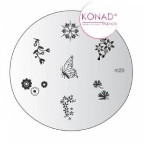 KONAD Plaque m20 - 7 motifs (codem20)